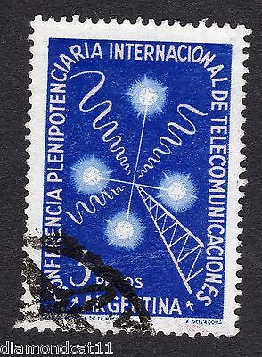 1954 Argentina 3 Peso Int Telecom Conference SG 858 GOOD USED R15568