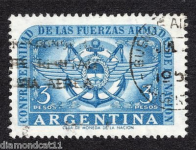 1955 Argentina 3 Peso Armed Forces Commemoration SG882 FINE USED R15615