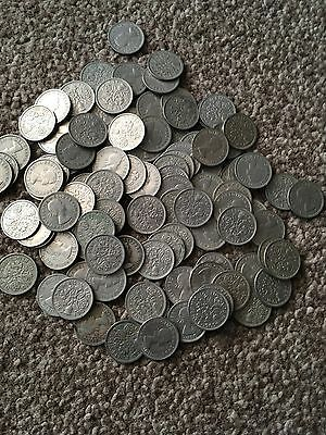 100 Six Pence Coins
