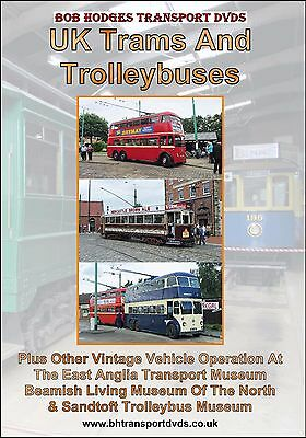 UK Trams & Trolleybuses, at Beamish, Sandtoft & East Anglia Transport Museum.