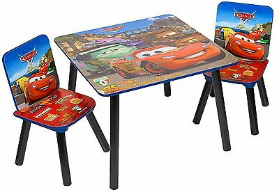 Disney Cars Childrens Wooden Table And Chairs (unused but maybe slightly scratch