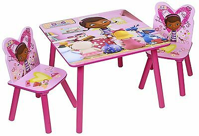 Disney Doc McStuffin Children's Wooden Table & Chairs Heavy Duty