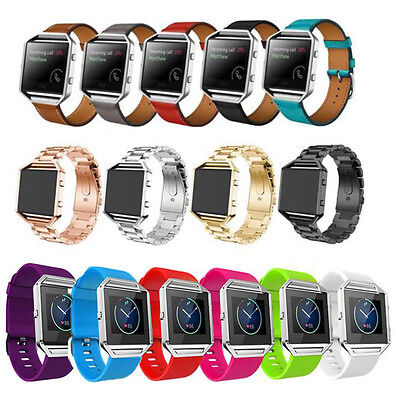 Sport Silicone/Leather/Milanese Watch Band Strap Bracelet For Fitbit Blaze Track