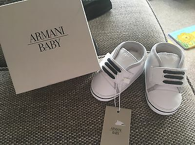 Armani baby Shoes - Size 19 (9-12 Months) BNWT