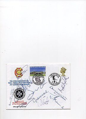 Signed  Cricket FDC.
