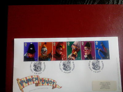 ROYAL MAIL  FDC - Punch and Judy Show Puppets