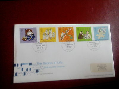 ROYAL MAIL  FDC - 50th Anniversary of Discovery of DNA