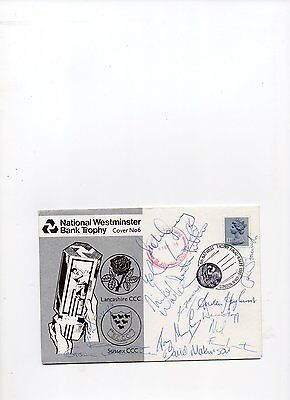 Signed cricket FDC