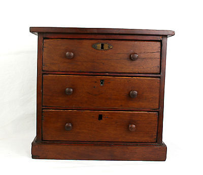 Antique Edwardian Miniature Chest of Drawers 31x28x14cm Table Top