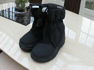 Black,cosy lining, Orchestra child's snow boots size 32 excellent