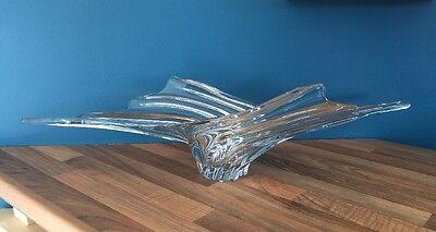 Stunning  Piece Of French Art Vannes Glass , Centrepiece Beautiful For Christmas