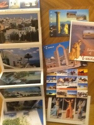 5 postcards Tunis Tunisia and a lettercard souvenir unused