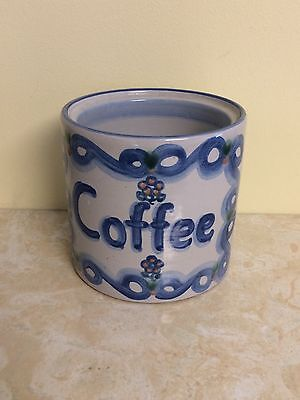 "M.A. Hadley Art Pottery Coffee Jar Cannister Canister Signed ""FILL ME"" Inside"