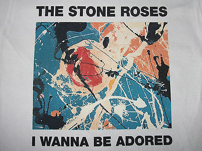 THE STONE ROSES I Wanna Be Adored T-SHIRT ALL SIZES Indie MADCHESTER Ian Brown