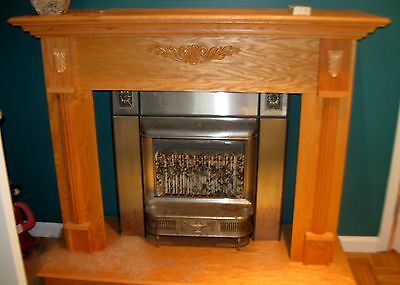 Beautiful Wood Fireplace Surround on Base