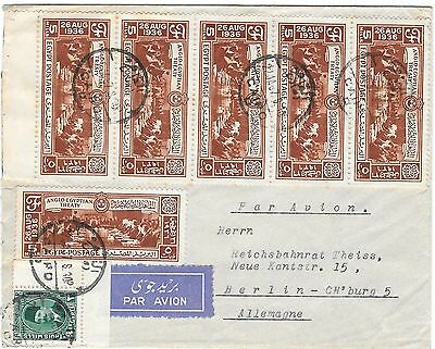 Egypte, air mail to Germany 1937