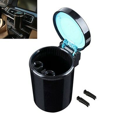 Portable Car LED Ashtray Smokeless Ash Cigarette Cup Holded Smoke Remover Home