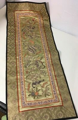 Chinese Silk Embroidered Vintage Framable Panel