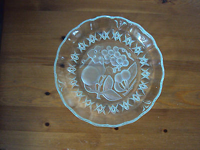 Pressed Glass Embossed Dish