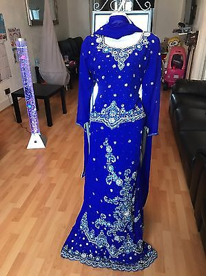 Size 12 Gorgeous Lengha Bollywood Salwar Kameez Eid Diwali Party