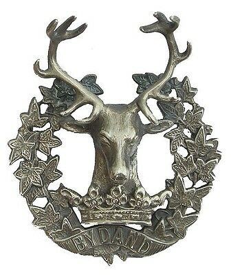 Ww1 The Gordon Highlanders Badge Officers Solid Silver