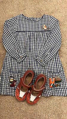 Girls Next 2016 Dress 4-5 And Matching Fox Shoes Size 10 Worn Once!