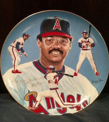 Reggie Jackson Angels 1983 Autographed Plate Hackett #283 Low Number Mr October