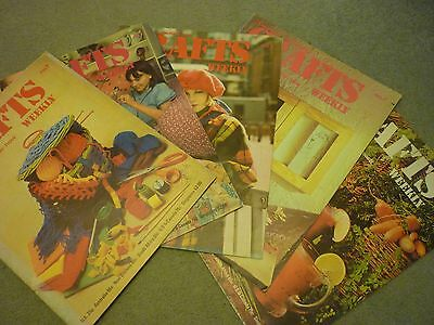 collection of vintage crafts magazines 70s - 90s