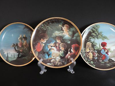 Precious Moments Plate Collection Bible Story set of 3