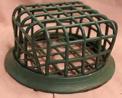 Huge Vintage Green  # 72A Beagle Mfg Metal Flower Arrangement Frog Cage