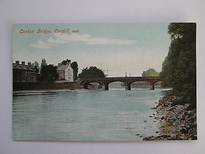 Old Postcard - Canton Bridge , Cardiff , South Wales .