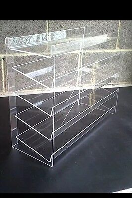 Counter chewing gum display stand 400x400x200mm 5 Shelves All Sizes Made