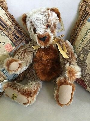 "VERY RARE MerryThought LE #117/500 RUSTY 20"" Mohair Bear (c)1994 - NEW w/Tags"