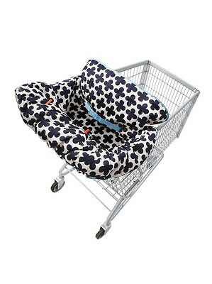Infantino Lil' Fluff Shopping Cart & Highchair Cover Blue/White Baby Safety