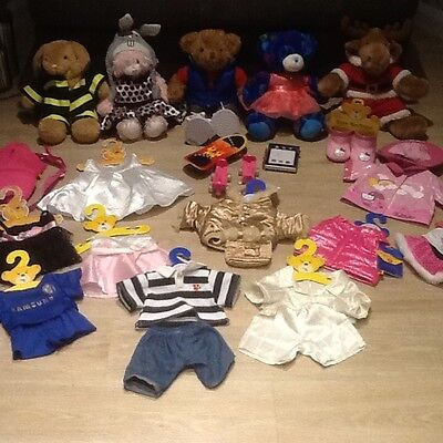 Build a Bear X 5 large mixed bundle of clothes & few accessories