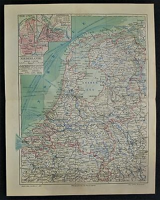 1910 map Holanda / Netherlands  / Nederland