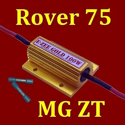 Rover 75 MG ZT Slow Speed Cooling Fan E-Zee Gold 100watt Resistor and Connectors