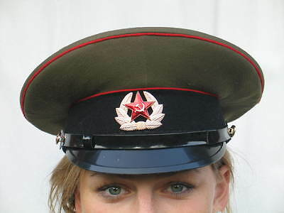 Soviet Army peaked cap,  Russian military  hat