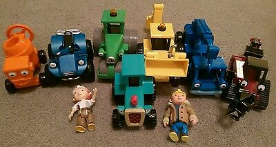 Bob the builder toys - 7 vehicles & 2 figures