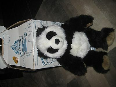 Build a bear panda with box. Cute and cuddly!
