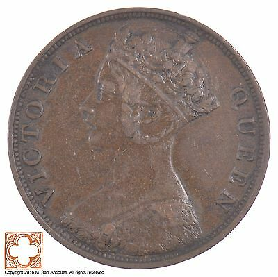 1866 British Hong Kong One Cent Queen Victoria *5529