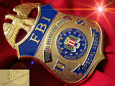 ü6/ Historisches police badge + FBI, Special Operations Division / hallmark