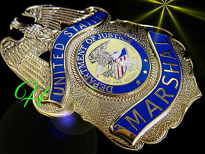 ü6/ Historisches badge + United States Marshal + Department of Justice / IKE