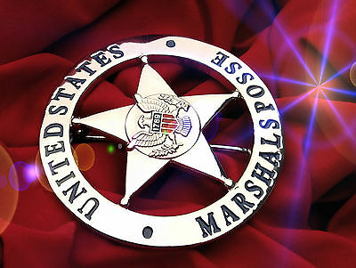 ü6/ Historisches police badge + United States Marshals Posse,  USMS