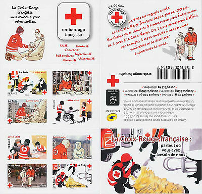 timbre france neuf carnet croix rouge 2016