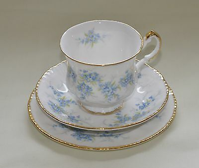 "Vintage Paragon Fine Bone China Teacup, Saucer & Plate In ""remember Me"" Pattern"
