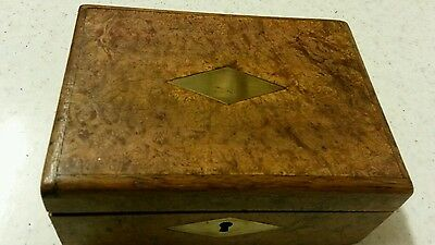 Old Walnut Box With Picture Inside Lid