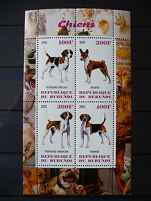Hunde 04 dogs Chiens Tiere animals pets Fauna Block KB sheets postfrisch ** MNH