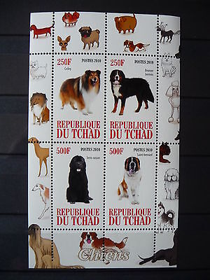 Hunde 05 dogs Chiens Tiere animals pets Fauna Block KB sheets postfrisch ** MNH
