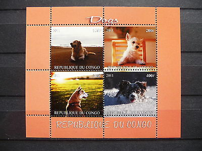 Hunde 15 dogs Chiens Hausiere pets Labrador Congo KB sheets postfrisch ** MNH